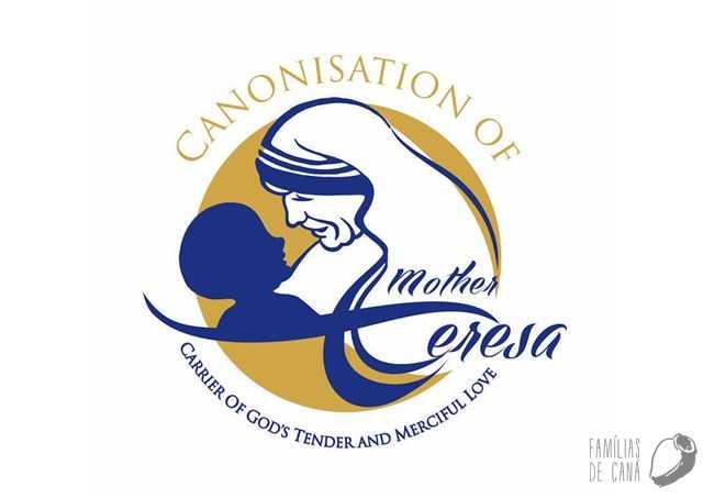 Logotipo oficial da canonização da Madre Teresa